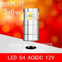 G4 led ac dc 12v 3W 4W 5W 6W  3020 SMD  led light G4 bulb Lamp High Lumen Energy Saving Ac&Dc 12V 10pcs/lot Free shipping