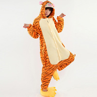 New 2013 Anime Animal  Angry Tiger Costumes For Women Halloween Wholesale Onesie Pajamas