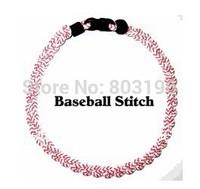 50PCS/Lot Wholesale Baseball Stitch Tornado Titanium Softball Stitch 2 ropes 3 ropes Braid Necklaces No Box Free Shipping
