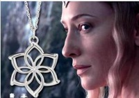 Freeshipping wholesale 20pc a lot sliver plated The Hobbit Galadriel Flower Necklace from  An Unexpected Journey BB012