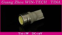 10pcs/lot 1W T10 168 194 LED SMD white light led Car Indicator auto Interior Lamp Wedge light bulbs TINA
