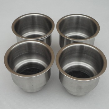 (2PCS)Stainless Steel Cup Drink Holder Marine Boat RV Camper
