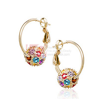 LQ Fashion Jewelry Drop Earrings Lucky Beads 18K Rose Gold Plated Austrian Crystal Earrings for Women Best Holiday Gift