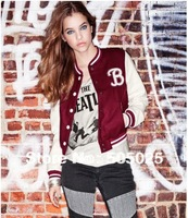matte surface imitation leather female models baseball coat short jacket women's sweatshirts