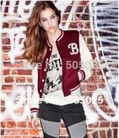 matte surface imitation leather female models baseball coat short jacket women's sweatshirts