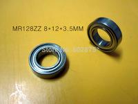 Free shipping   MR128 ZZ   8*12*3.5mm  chrome steel  deep groove bearing
