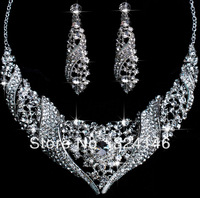 Free shipping top crystal  bridal jewelry sets wholesale jewelry  accessory