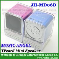 Original mini speaker MUSIC ANGEL JH-MD06D portable speaker,upgraded MD06 suppurt TFcard+Card reader+HOT original speaker