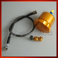 SPECIAL OFFER Hydraulic Handbrake Hand Brake Drift Oil Tank With Oil Line + Fittings Red Gold Color