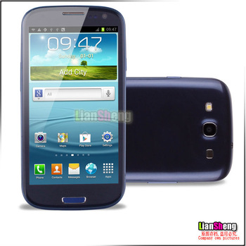 i9300 1:1 MTK6577 Dual core 1GHz 4.8 inch 960*540 512MB RAM 4GB ROM Android 4.0 unlocked Smart mobile cell phone
