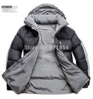 Free shipping Men Double Side Wear Thicken Winter Outdoor Windbreaker Men's Cotton Padded Jacket Sport Coat