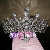 Oversize Crystal bride hair accessories wedding tiaras and crowns for sale rhinestone pageant crowns head jewelry hair orname