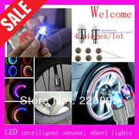 2013 New Hot Sales -4pcs/lot Bicycle motorcycle Flash Car lights LED Wheel light car Valve Cap Lamps Bike DRL