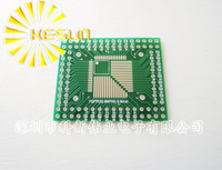 QFP/FQFP/LQFP TQFP32 / TQFP44 / TQFP64 / TQFP80 / TQFP100 0.5MM / 0.8MM Pitch IC adapter Socket / Adapter plate / PCB