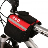 2013 New Arrival  Cycling Bike Bicycle Pannier Frame Front Tube Bag  Red Color  Pack Free Shipping