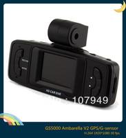 GS5000 1.5inch Ambarella 30fps Night Vision 4LED 1920*1080P H.264 +GPS and G-Sensor HD Car DVR Recorder ,freeshipping