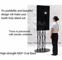 "Portable LCD/LED tv stand/exibition product/trade show/37"" to 72' plasma or LCD television stand/truss display stand/Black"
