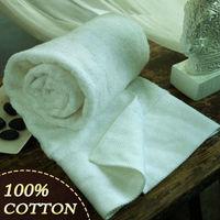 Beach Towel Large Cotton Face Towel,80*40CM, 180G / 100% Cotton Spiral Plain Weave Face Towel, White Color, High-Quality /G001
