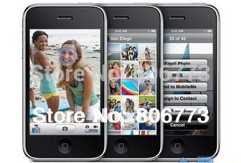 by sg post unlocked  100% factory 3GS 32GB phone WIFI GPS 3.2 megapixel black and white, in a sealed box free shipping