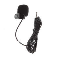 10Pcs Black Hands Free Clip on 3.5mm Mini Studio Speech Microphone For Computer PC Laptop Drop Shipping Wholesale