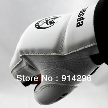 Free shipping White motorcycle bicycle Half Finger Kick boxing Gloves For Taekwondo, Sanda, Kongfu,MMA size:S\M\L