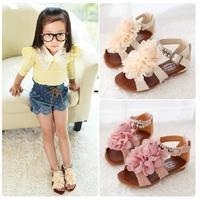 2013 New Fashion little Girls Sandals Sweet Flower For Children Kids Princess  Summer Shoes  Size 26-33