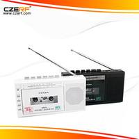 Free Shipping hot sale Panda 6503 FM radio two band radio USB / TF tape transcription tape recorders tape recorder gift radio