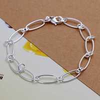 Wholesale 925 Silver Bracelets & Bangles,925 Silver Fashion Jewelry Million words Bracelet Free Shipping SMTH194