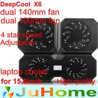 4 fan dual 14cm fan and dual 10cm fan laptop cooler laptop cooling notebook cooler heat plate ultra-quiet DEEPCOOL X6