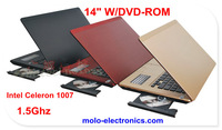 "14"" laptop computer  Windows 8 Intel Celeron 1037U CD/DVD ROM WIFI W/option for 8GB DDR3 ram"