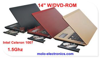 14inch CD/DVD RW ROM gaming laptop computer  Windows 8 Intel Celeron 1037U WIFI camera
