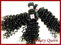 6a Unprocessed Queen Hair Products 3 pcs Lot Peruvian Virgin Hair Extension curly  Human Hair Weaves DHL Free Shipping