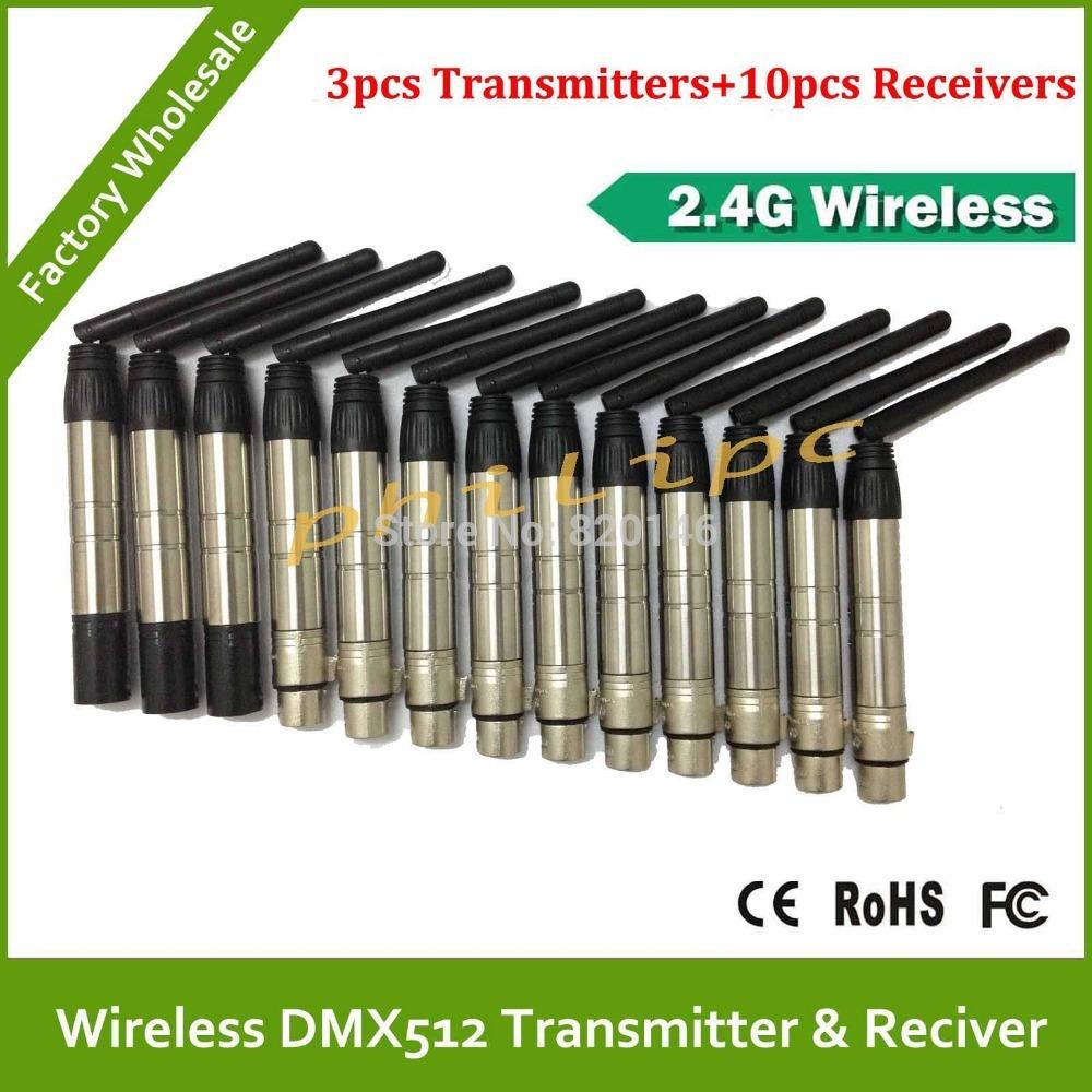 DHL/EMS Free Shipping 2.4Ghz Wireless DMX512 Console DFI DMX512 wireless Transmitter or Receiver DMX wireless kit(China (Mainland))