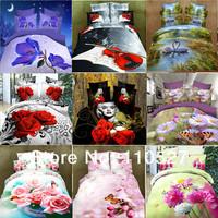 Promotion 3D home textile product 3D printed 4pc cotton bedding set 3d unique Duvet Covers SET bedlinen unique bedclothes