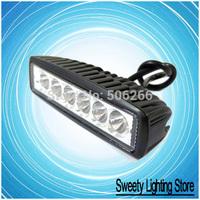 High power 18w led work light 12V~24V SLIM BLACK LED WORK LAMP - BOAT/CARAVAN/4/TRUCK/DECK LIGHT