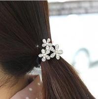 Free Shipping Fashion Korean Elastic Headband Snowflake Flowers Hairpin For Women A3R15C (minimal mixed styles $5)