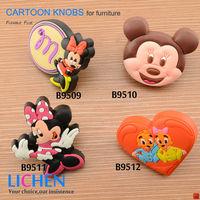 Free Shipping (12pieces/lot) LICHEN Soft PVC  Knobs&Cartoon Knob Furniture Handle Drawer Knob& Cabinet Handle &Drawer Knob