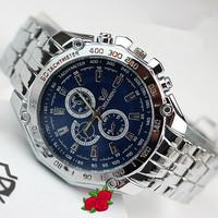 Free Shipping Fashion Sports Designer Full Steel Watches for Men Quartz Analog Wristwatches 3 Eyes Male Clock Gift Item TWS001