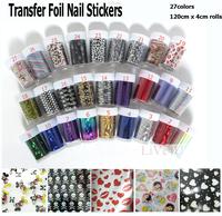 Free shipping (12pcs/lot 27designs option,4*120cm rolls) 2013FW new fashion nail art Transfer foil sticker nail sticker,4UNL115B