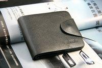 Quality assurance, genuine leather, D1202-68 ,Men's Wallet, hasp horizontal section, short style,men purse, whosale price