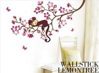 free shipping new design cute monkey wall sticker for room 50*70 cm DIY home decor papar