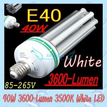 E40 LED lamp  light 40W 3600-Lumen 6500K White LED Street Light Lamp Bulb (AC 85-265V) free shipping