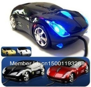 Free Shipping Wholesale Car Shape USB 3D Optical Mouse Mice the Best Gaming Computer Mouse