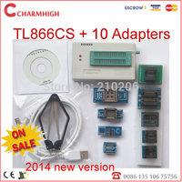 New 6.1 version TL866cs USB Programmer + 10 pcs adapters, support 13143+ IC AVR PIC Bios 51 MCU Flash, win7 64bit