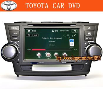 """8"""" Indash Car Radio DVD Player GPS Navigation For Toyota Highlander 2008-2011"""