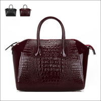 Luxury crocodile pattern cowhide women's handbag document women's handbag big bag vintage handbag