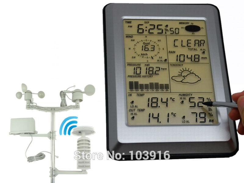 Pro Wireless Weather Station w/ PC interface, Touch Panel w/ Solar sensor(China (Mainland))