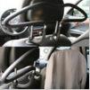 Auto supplies car hanger quality car hanger stainless steel PU clothes rack suit hanger