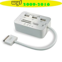 High Speed USB Hub + Camera Connection Kit + Card Reader Combo for iPad 1 2 3(China (Mainland))