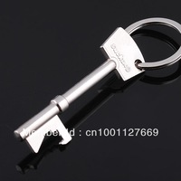 Wholesale 50pcs/lot Metal Cool key Style Bottle Opener Key Ring Keychain Bar Tool